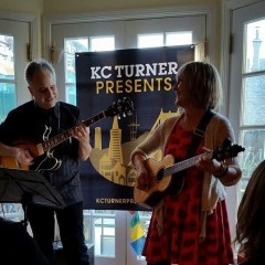 Beth Marlin and Gary Zellerbach open for Adam Levy at KC Turner's House Concert Series show, 6/28/2014